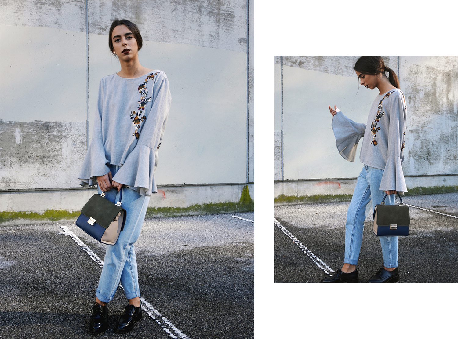 EMBROIDERED-BLOUSE-frilled-sleeve-mom-jean-derbies-black-littlebag-kyliejennercosmetics-chemisier-brode-manches-volantees-coastalandco-blog-hendaye-paysbasque  6