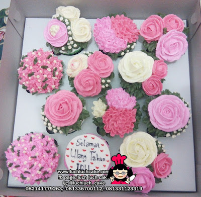 Cupcake Korean Buttercream Pink