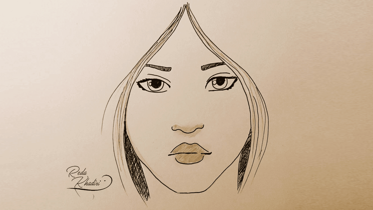 Video 19 Comment Dessiner Le Visage D Une Fille Moins D 2 Minute Redakhadiri Officiel