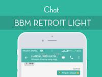 Download BBM MOD Retroit Light v1.5 Base v3.3.4.48 APK Terbaru for Android Gratis