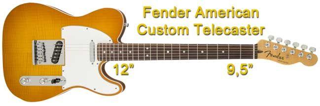 Características de la Fender American Custom Telecaster con Radio de Diapasón Mixto