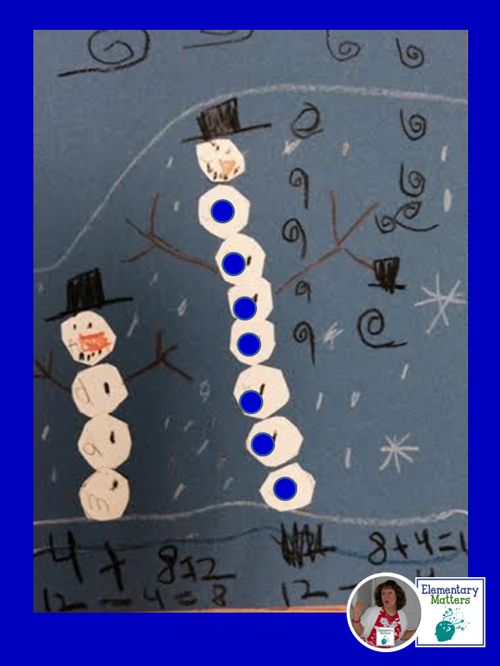 An Educational Art Project: turn a snow man art project into math problems! The best part? You can keep it up after the holidays!