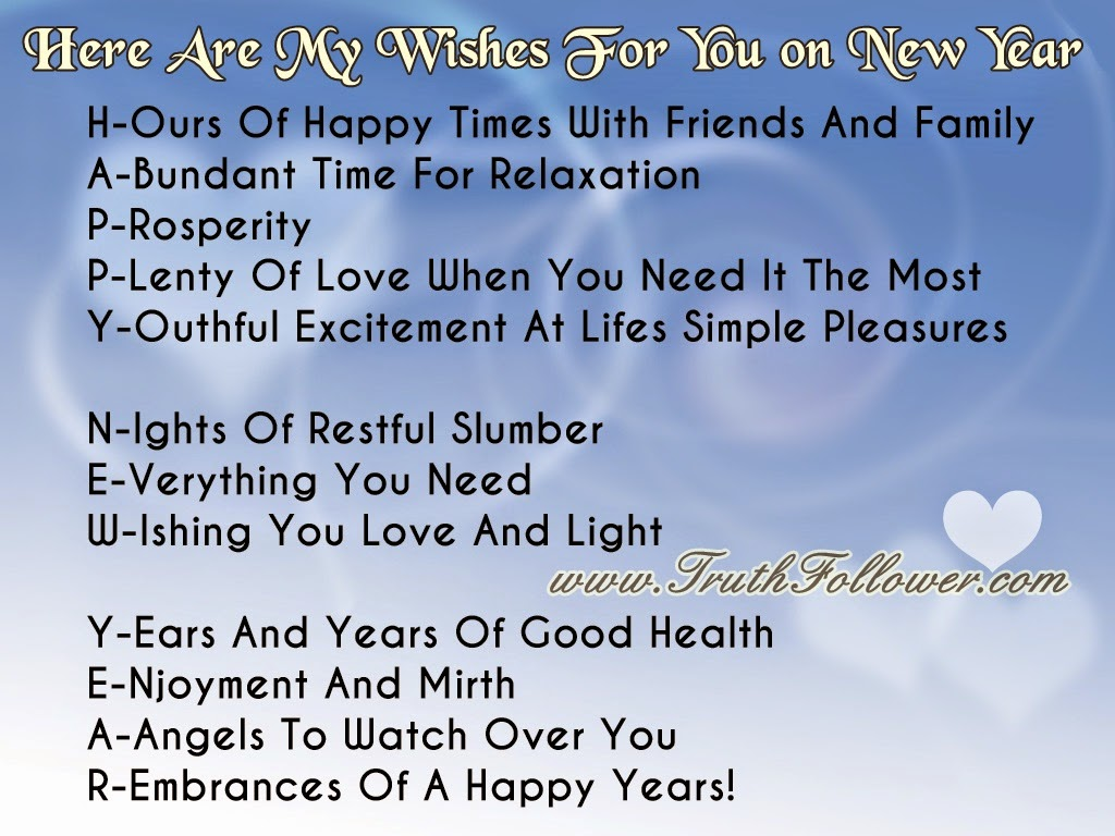 Here Are My Wishes For You , Happy New Year Meanings