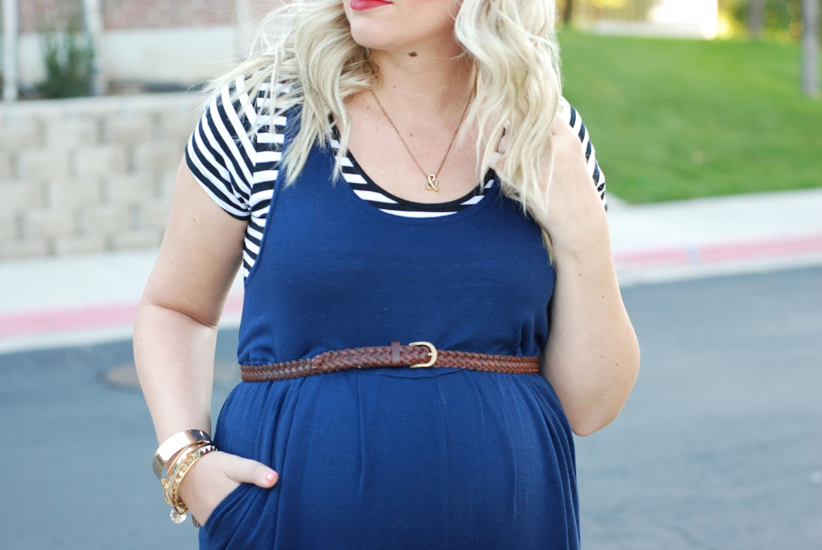Stripes, Maternity Jumpsuit, Utah Fashion Blogger