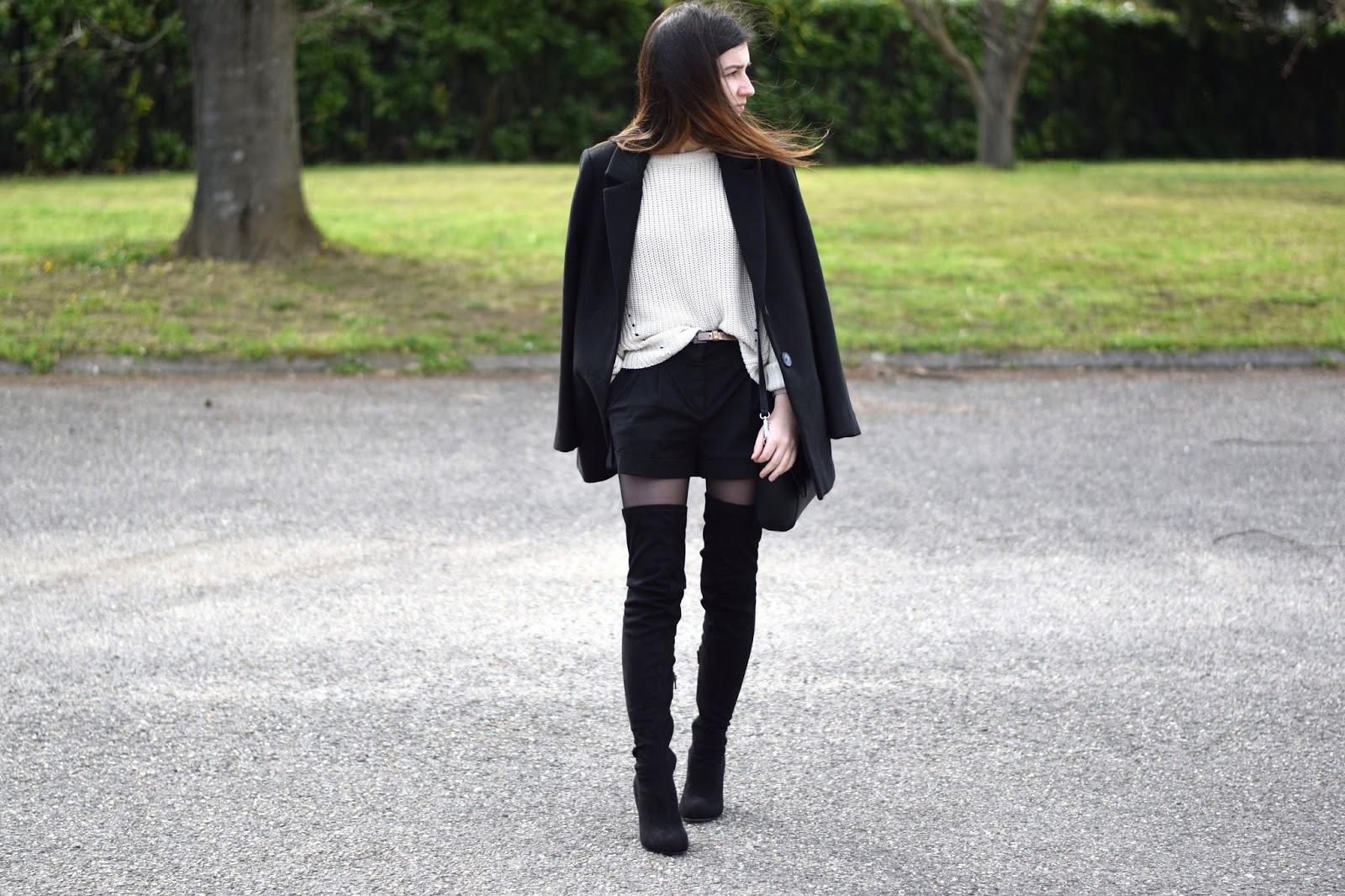 fashion h&m mode manteau noir