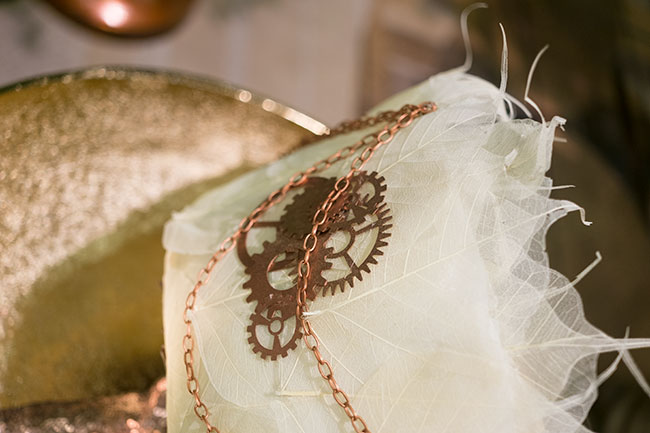 Steampunk bouquet details