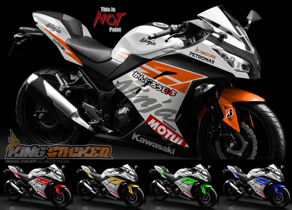 cutting sticker motor ninja 250 fi abs di bali | king sticker bali
