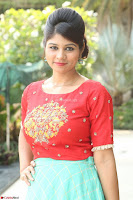 Lucky Shree Looks super cute in Bright Red Green Anarkali Dress ~  Exclusive 024.JPG