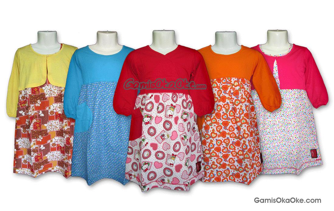 Baju gamis anak oka oke solo dengan motif dan model terbaru 2014