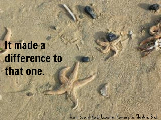 It made a difference to that one; Removing the Stumbling Block