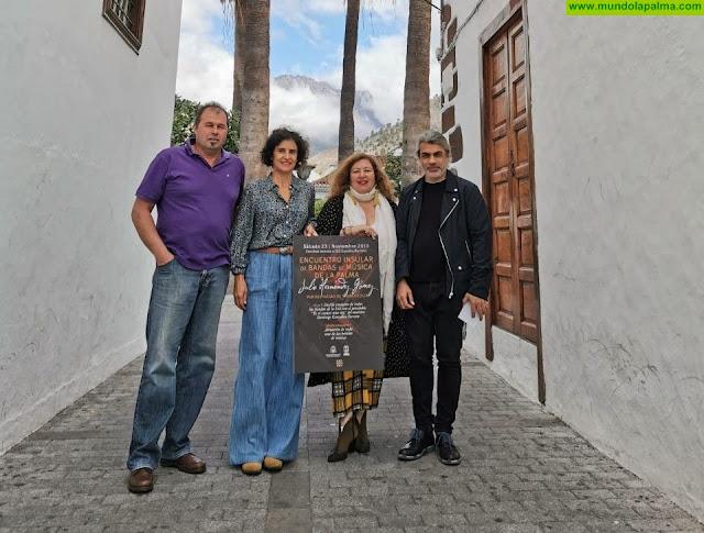 """Los Llanos de Aridane acogerá el sábado 23 el encuentro insular de Bandas de Música de La Palma """"Julio Hernández Gómez"""""""