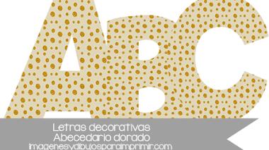 Letras decorativas para imprimir