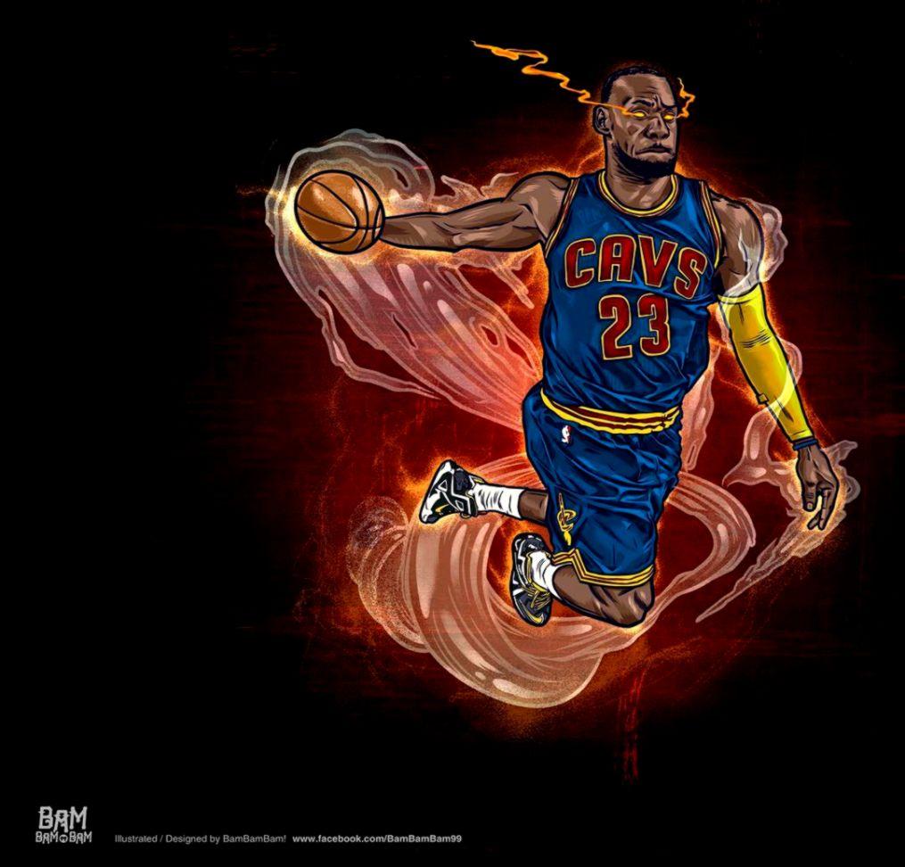 LeBron James Heat Seeking Vision Illustration wallpaper wpt8006410