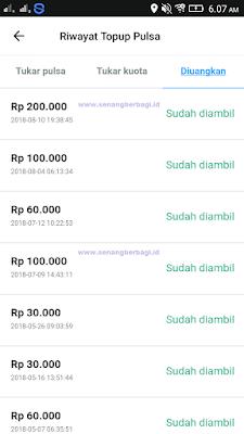 Bukti Pembayaran dari Aplikasi Penghasil Uang Gratis di Android