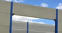 foto placas alveolares entre pilares metalicos