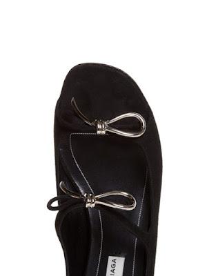 Balenciaga Boucle Bow Suede Flat Sandals