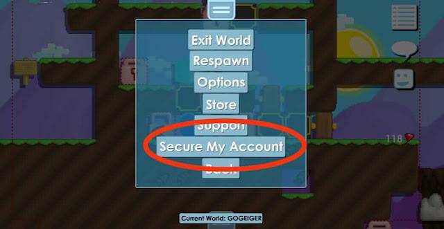 Ganti password growtopia yang lupa email