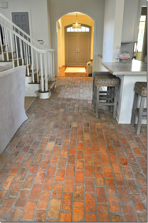 brick floor kitchen cabinet fronts color outside the lines inspiration month day one floors