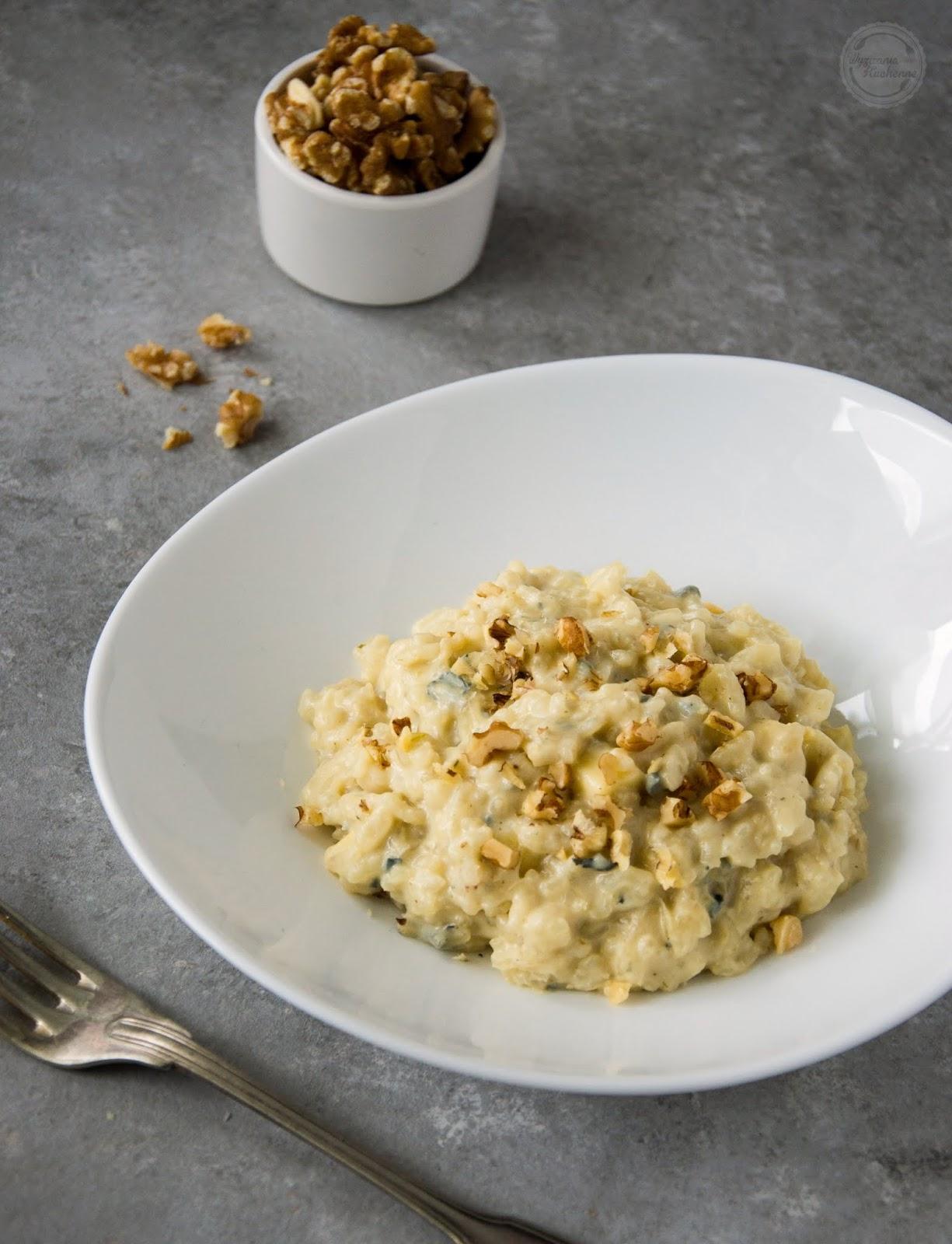Risotto z gorgonzolą i gruszką