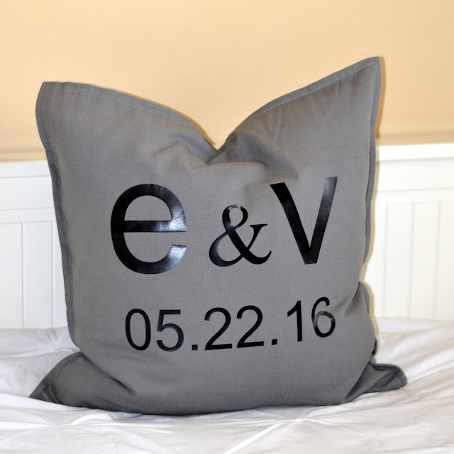 Wedding date pillows a personalized wedding gift idea