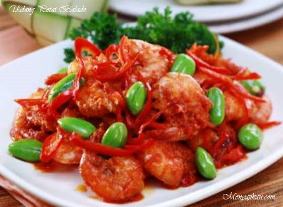 Resep Masakan Udang Petai Balado