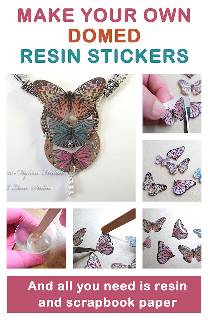 Make Your Own Epoxy Resin Stickers project sheet