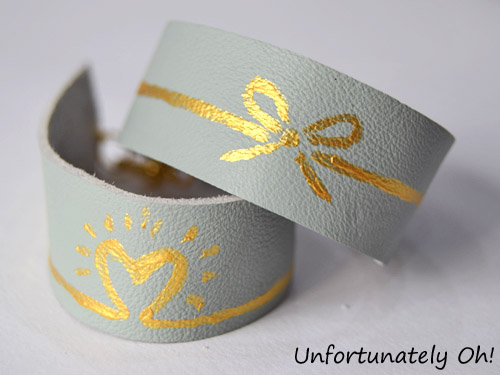 DIY painted cuffs