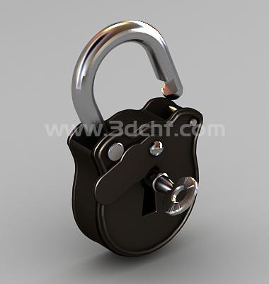 padlock 3d model free