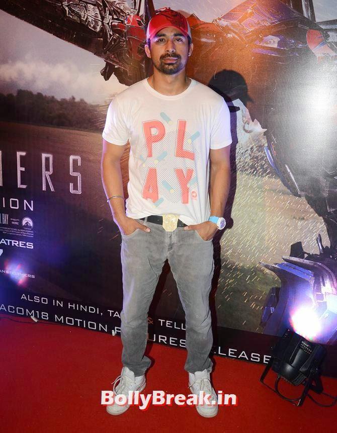 Rannvijay Singh, Asha Negi, Lauren Gottlieb, Shama Sikandar at Transformers Movie premiere