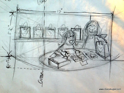 Thumbnail sketch by Cheryl Kugler