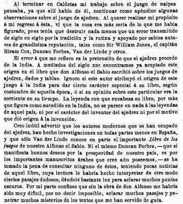 Prólogo de la edición de 1891 del libro de Josep Brunet i Bellet sobre el origen del ajedrez (1)
