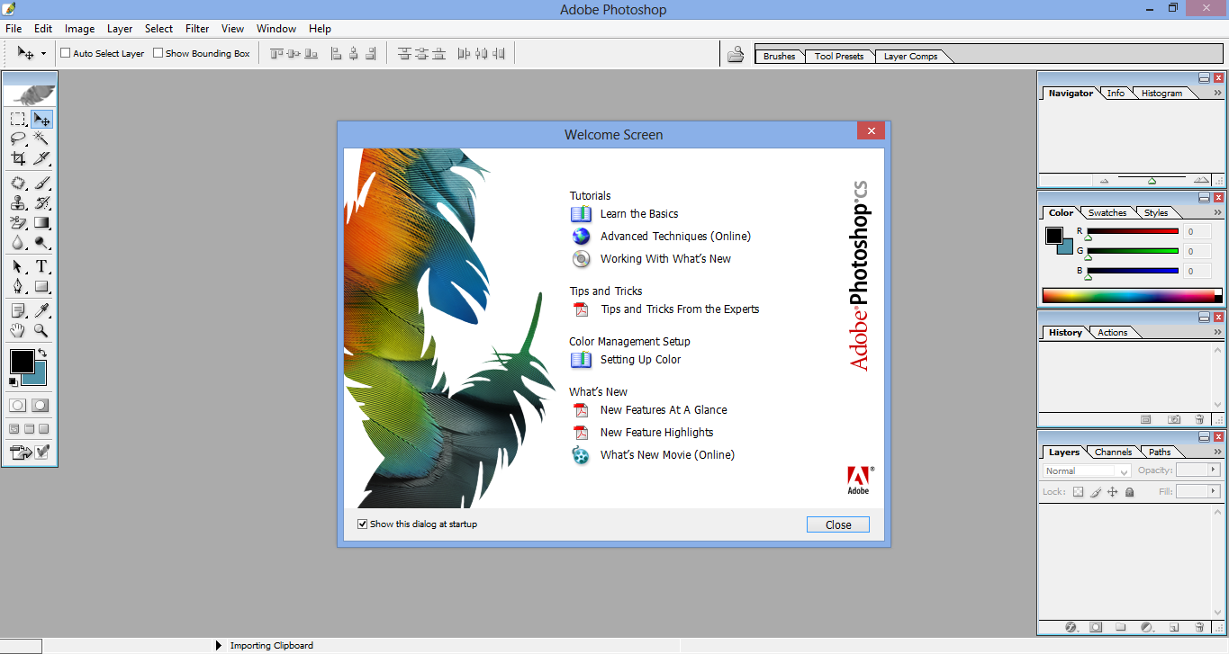 photoshop cs for windows 7