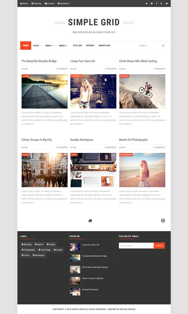 Top and best selected free responsive blogger templates - The Falcontech