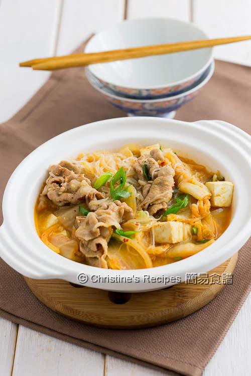 泡菜豆腐粉絲豬肉煲 Kimchi Pork Tofu with Vermicelli Noodles01
