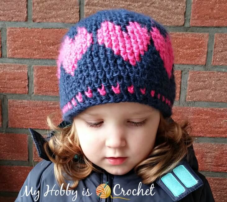 A Hat With Love - Free Crochet Pattern with Video Tutorial and Graph