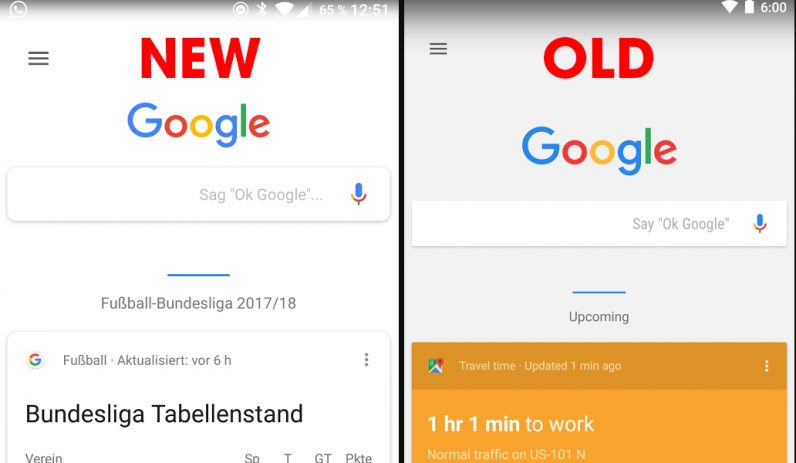 Google is testing a stylish new interface for Google Now ...