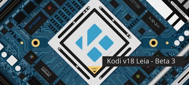 Kodi 18 Beta 3