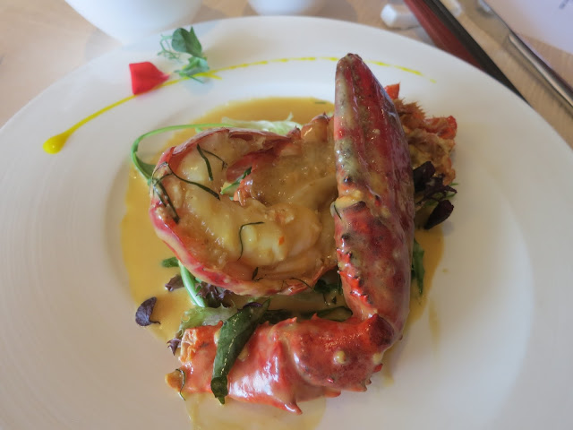 Baked Lobster with Creamy Custard Sauce