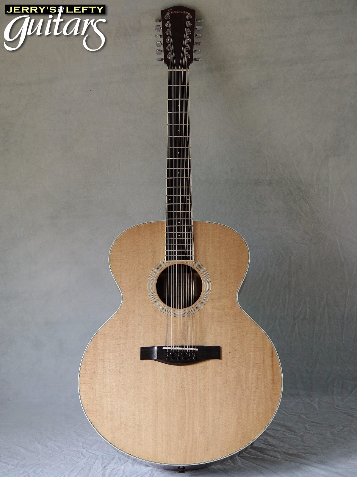 jerry 39 s lefty guitars newest guitar arrivals updated weekly eastman ac330 12 string left. Black Bedroom Furniture Sets. Home Design Ideas