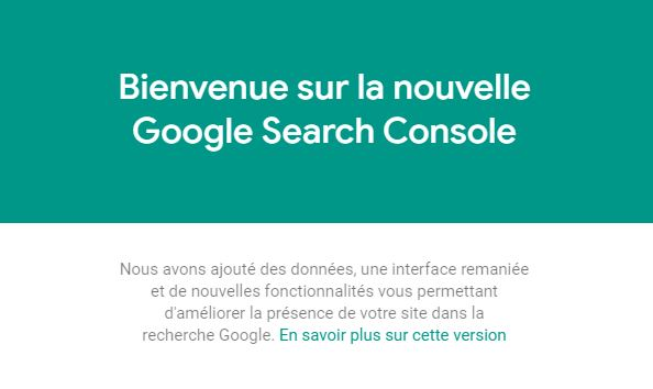 Google migre l'ancienne version vers la nouvelle Search Console