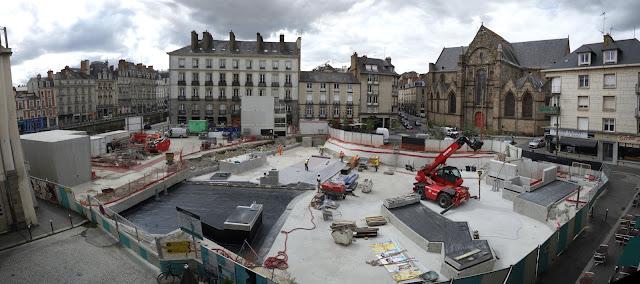 Le chantier du métro Place Saint-Germain le jeudi 20 juillet 2017