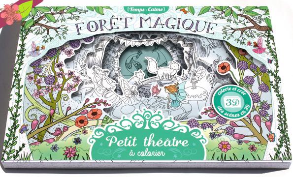 Petit théâtre à colorier - Forêt magique - Anna Stiles - Gründ jeunesse