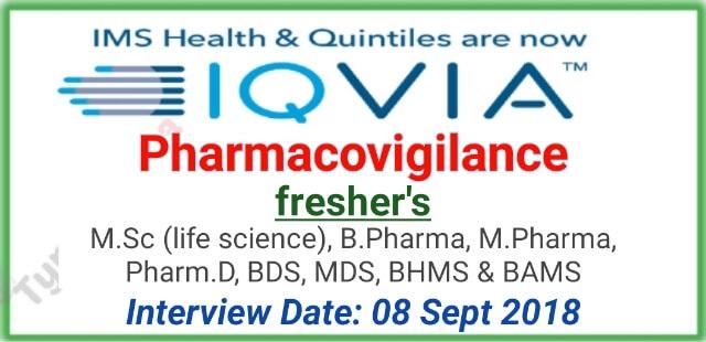 IQVIA is hiring for Pharmacovigilance Fresher | PV Job Mumbai