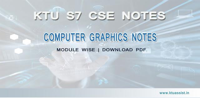 KTU S7 CSE COMPUTER GRAPHICS NOTES - KTU ASSIST