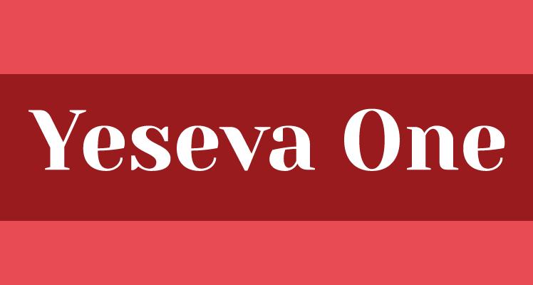 Yeseva One Regular Free Font Preview