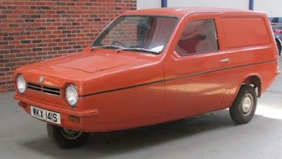 Reliant Robin é um carro de 3 rodas