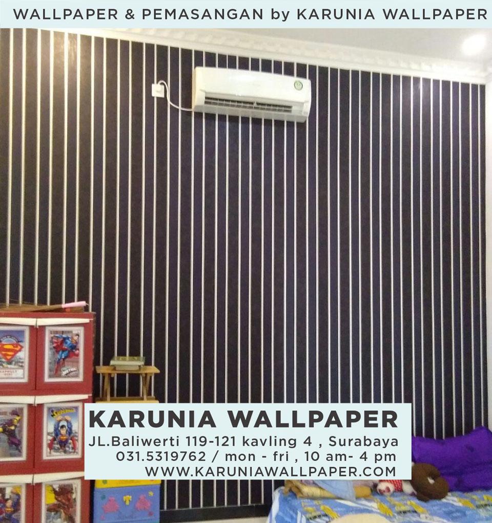 jasa pasang wallpaper dinding apartemen surabaya per meter