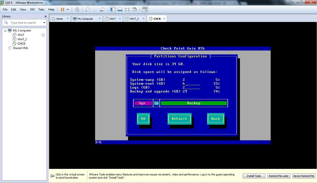 Installing GAIA_CheckPoint OS_Part_1   Subrun Jamil