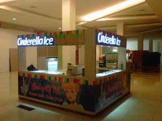 Huruf timbul gedung mall