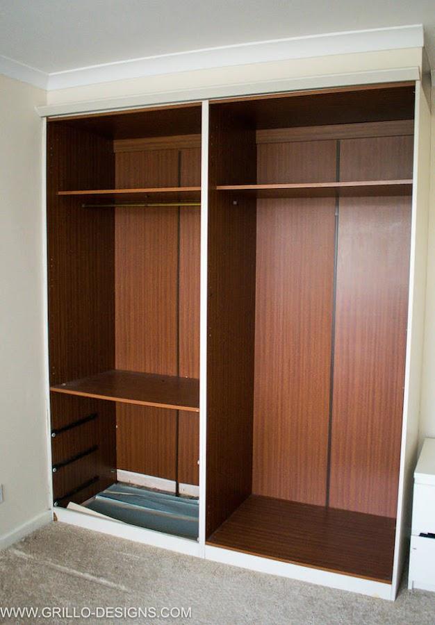 El antes y después de un viejo armario, estado antes de la reforma